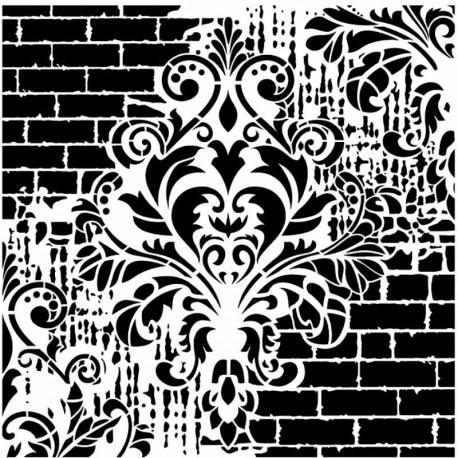 Cadence stencil GCSS-002 25x25 cm - KreatívHobbyLabor.hu