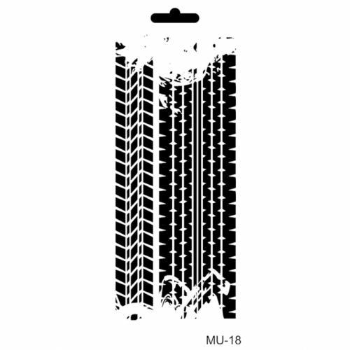Cadence stencil MU-18 10x25 cm - KreatívHobbyLabor.hu