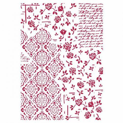 Stamperia stencil KSG439 A/4  - KreatívHobbyLabor.hu