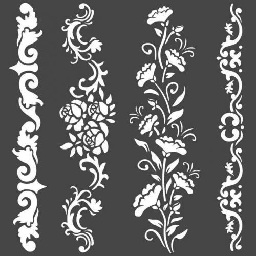 Stamperia stencil KSTDQ54 18x18 cm - KreatívHobbyLabor.hu
