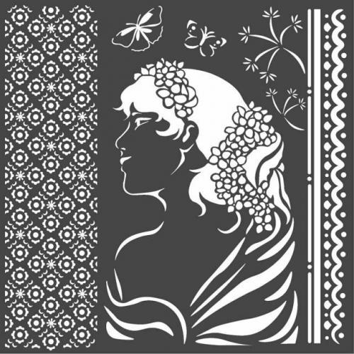 Stamperia stencil KSTDQ40 18x18 cm - KreatívHobbyLabor.hu