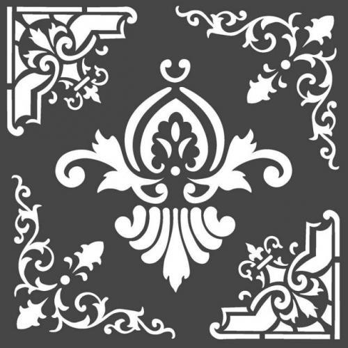 Stamperia stencil KSTDQ55 18x18 cm - KreatívHobbyLabor.hu