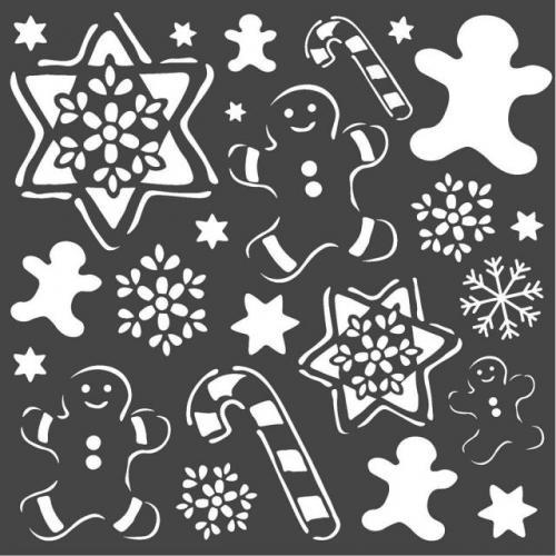 Stamperia stencil KSTDQ51 18x18 cm - KreatívHobbyLabor.hu